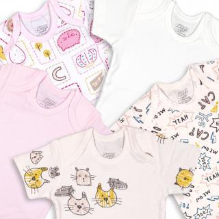 Бебешки бодита Котенца 5бр.