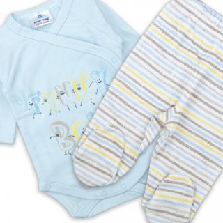 "Бебешки комплект ""Синьо"" 100% памук"