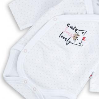 """Бебешко боди """"Коте"""" 100% органичен памук"""
