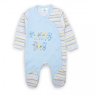 """Бебешко ромпърче """"Синьо"""" 100% памук"""