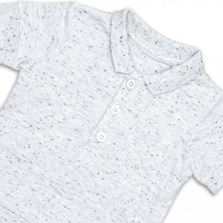 """Боди- тениска с якичка """"Silver"""""""