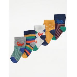 Чорапки Динозаври 5бр.
